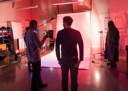Institution featured at 70 percent quality photography students shooting in moving image studio