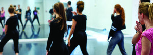 Dance studios, Bedford campus | University of Bedfordshire