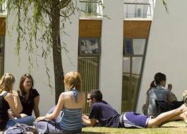 Institution featured at 70 percent quality 308 students relax on campus lawns uni derby