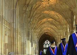 Institution featured at 70 percent quality 236 students walk to graduation gloucestershire cathedral